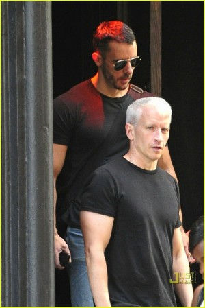 anderson cooper ben maisani david barton gym 04 300x449 He is always pictured with Benjamin Maisani, a famous gay bar owner in NYC.